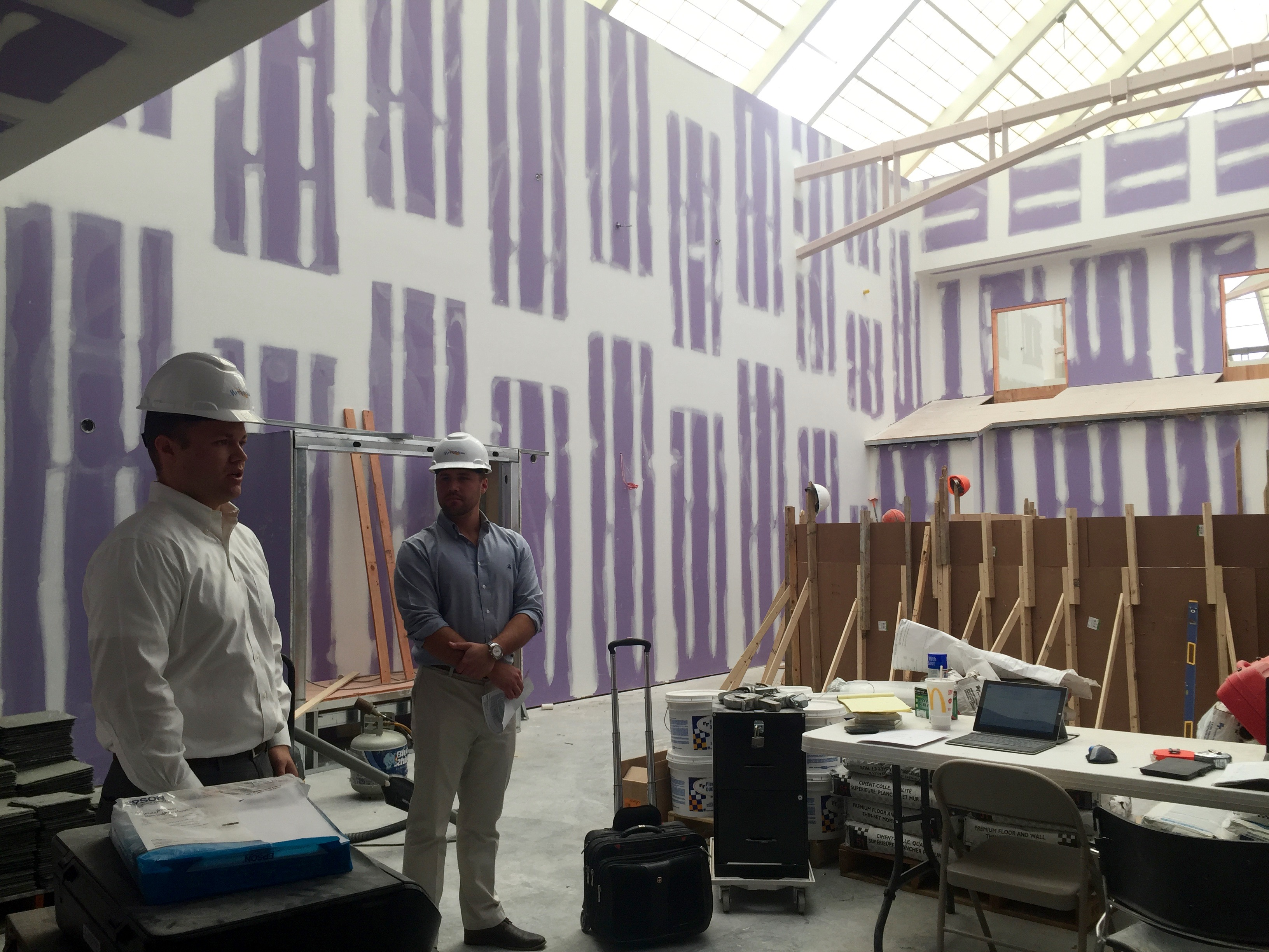 Hard hard hat tour of Spa Mirbeau at Crossgates Mall in Albany