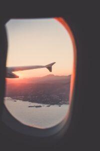 viagem janela do avião