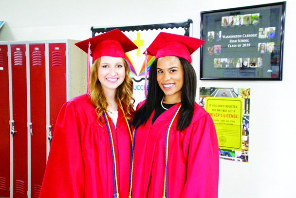 Washington Catholic 2019 Salutatorians are Maggie Burks, left, and Emily Fields.