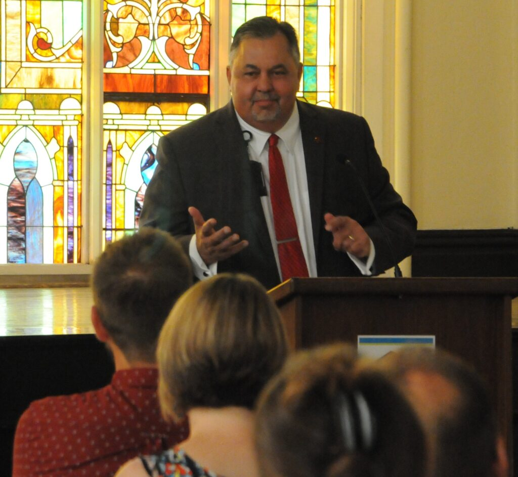 Dr. Steven Becker was the featured speaker at Habitat for Humanity of Evansville's annual Faith in Action Breakfast on June 20. Dr. Becker is the Director and Associate Dean and Koch Professor of Medicine at the Indiana University School of Medicine – Evansville.
