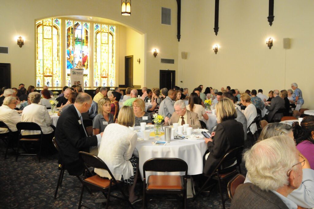 About 150 interfaith leaders, community members, Habitat volunteers and donors attended Habitat's annual breakfast, which was held at Trinity United Methodist Church.