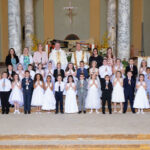 St. Benedict Cathedral Parish, Evansville St Benedict Cathedral Paris in Evansville celebrated First Communion on May 5. Shown are  Griffin Hamilton, bottom row left, Savannah Denton, Feliks Lauer, Lily Graber, Lila Goebel, Marshall Schmitt, Caroline Hope, Townes Wooten,  Lotte Kate Warren, Vincent Villines, Jane Rennie , Kellen Pfeiffer, Lydia Farley, Mia Oliva, Mckenna Cummings, middle row left, Ian Howe, Phoebee Gander, Ethan Fritschle, Mallory Chandler, Lola Purcell, Michael Briddell, Reagan Shaw, Hunter Happe, Vika Manion, A.J. Laudonio, Ashlyn Sills, Connor Purkey, Sophia Johnson, Jack Graber, Bertha Melendres, top row left, Stephanie VanWinkle, St. Benedict Cathedral School Principal Kari Ford, Pastor Benedictine Father Godfrey Mullen, Deacon David Rice, Alex Diekhoff and Lauren Rutherford. Submitted photo
