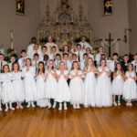 First Communion St Francis Xavier Parish Vincennes St. Francis Xavier Parish in Vincennes celebrated First Communion on April 28. Shown are Lilly Seitzinger, front row left, Madelyn Seitzinger, Amy Gilmore, Maysen Gomez, Charlie Sievers, Hayden Stoelb, Anna Halter, Addison Beaman, Natalie West, Nora West, Callie Turner, Eleanor Herb, Sophia Cleghorn, Ziva Brewer, second row left, Avery Garretson, Quaid Cardinal, Vance Johnson, Kash Mouzin, Prince Baptiste, Sam Allen, Layne Willis, Mac Harmon, Levi Klingler, Nolan Letts, Mason Sampson, Dayton Irwin, Bennett Frey, Phillip Herman, third row left, Wyatt Dunn, Cale Bezy, Addyson Marchino, Brayden Stearns, Tayte Walker, Nate Weiss, Parochial Vicar Father Simon Natha, fourth row left, Temporary Administrator Father Donald Ackerman, Janet West and Deacon Cletus Yochum. Cooper Battles and Jacob Duke also received First Communion but are not pictured. Submitted photo