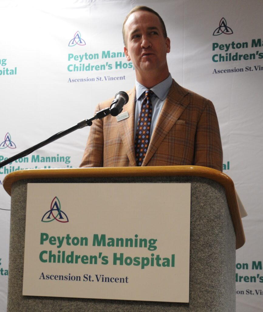 Former NFL quarterback Peyton Manning recently helped announce the opening of the new Peyton Manning Children's Hospital Emergency Room for Children at St. Vincent Evansville and his brand expansion.