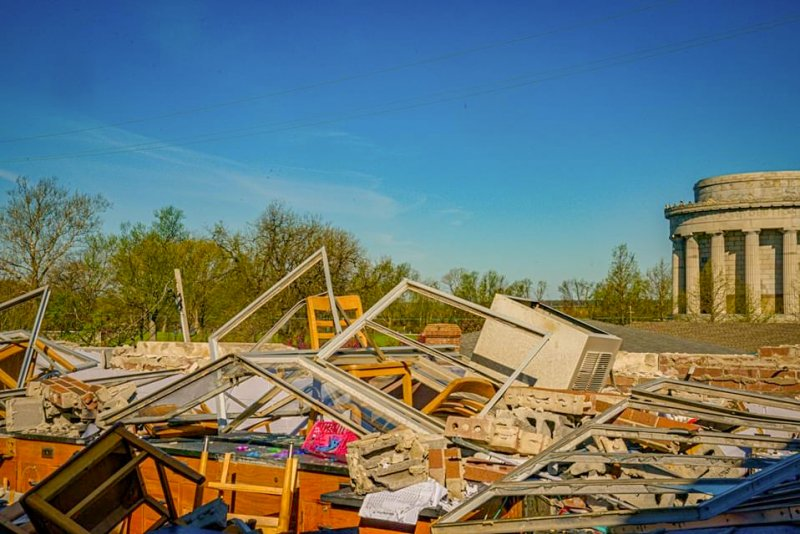 More damage to Rivet High School after an April 8 severe storm. Submitted photo