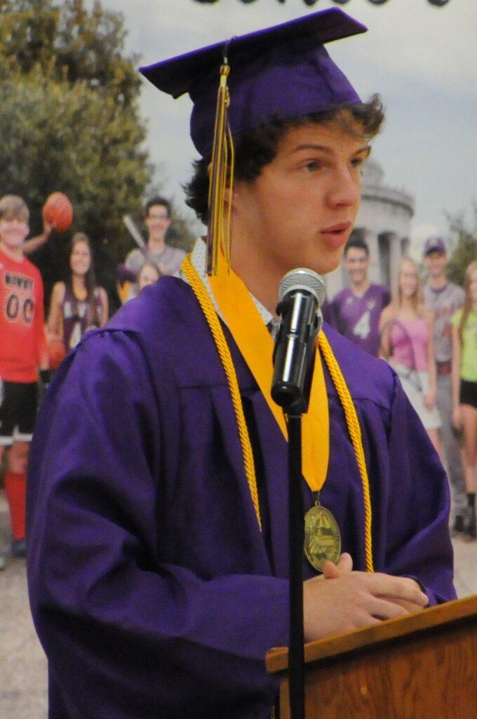 Class of 2020 Valedictorian Cedric Schleiss