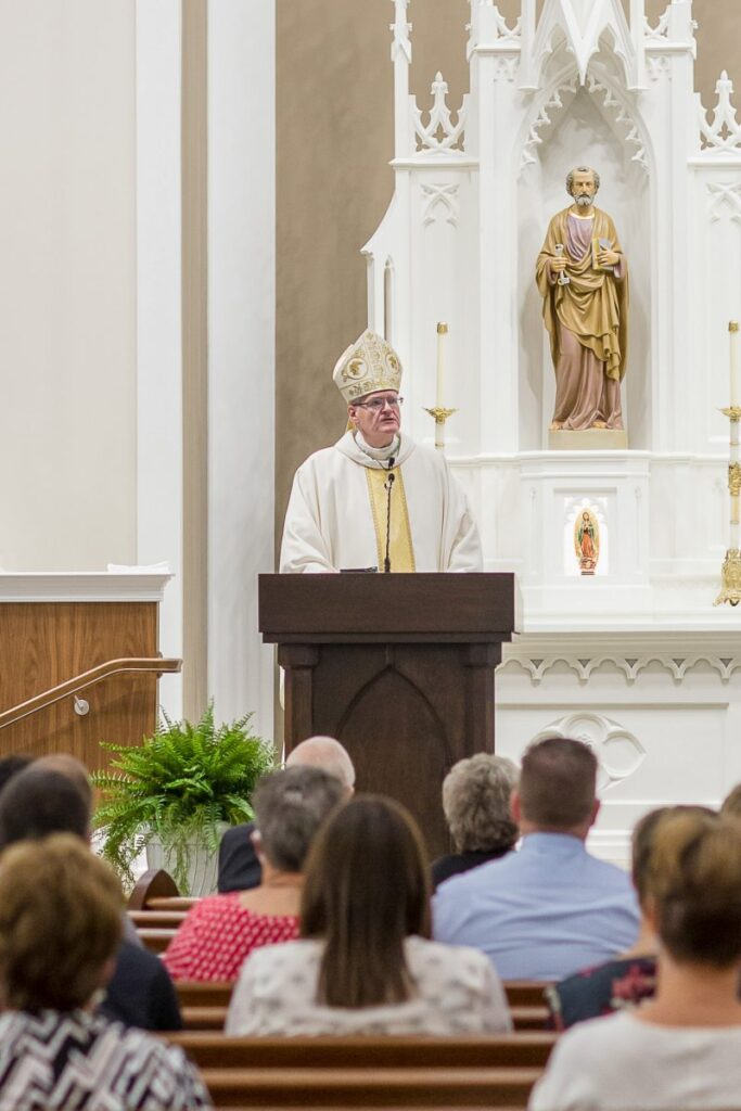 Bishop Siegel commended everyone involved in the project, which spanned 50 years from the parish's earliest discussions and planning. Photo by Brescher Photography