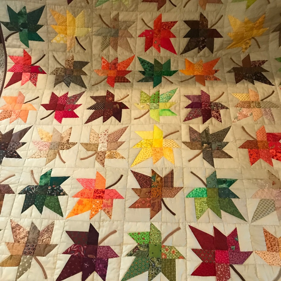 "Good Shepherd parishioner Donna Hamilton donated this ""Falling Leaves"" quilt to the Mary Mother of God Mission Society: Reviving the Roman Catholic Church in Eastern Russia as a fundraiser gift for the mission in Vladivostok, Russia. The raffle drawing is Dec. 11. Submitted photo"