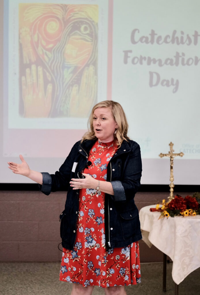 Becky Eldredge focuses her keynote address on how we all can develop richer, deeper prayer lives. Photo by Joe Falcony, special to The Message