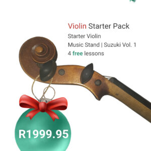 Ad for Christmas Violin starter pack prices at R1995.95