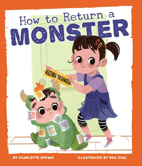 Cover of the picture book HOW TO RETURN A MONSTER