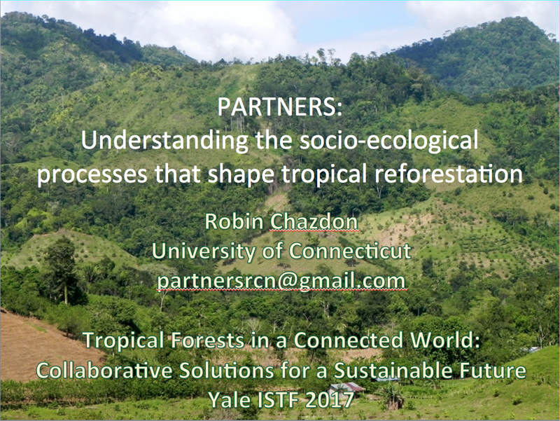 Understanding the socio-ecological processes that shape tropical reforestation