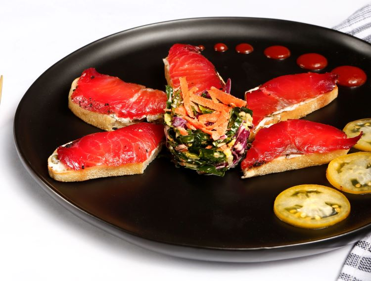 image smoked salmon appetizer