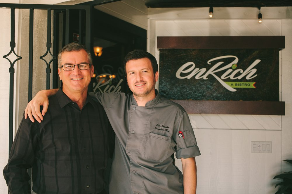 image dick Knowles and chef rich Knowles