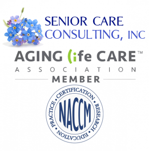 Senior Care Consulting logo and ALCA and NACCM associations