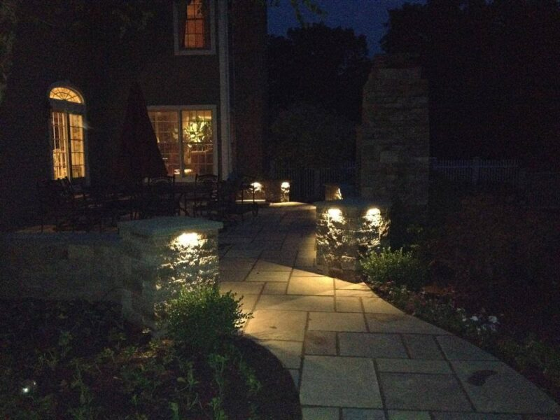 Custom Patio at Night