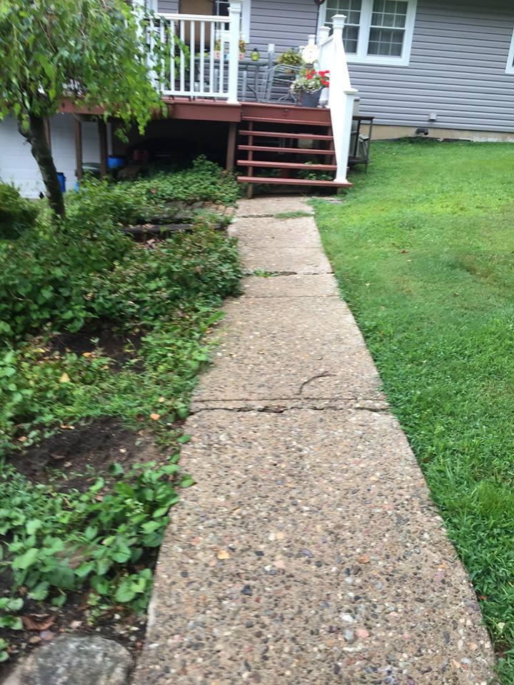 Paver Walkway Before – Flanders NJ