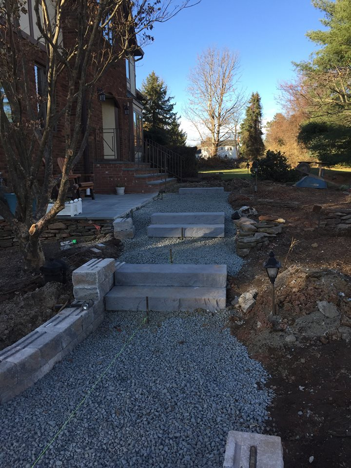 Paver Stairs Before – Succasunna NJ