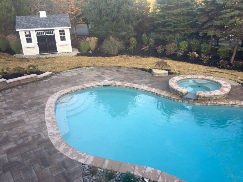 Pool Paver Patio Install, Chester NJ