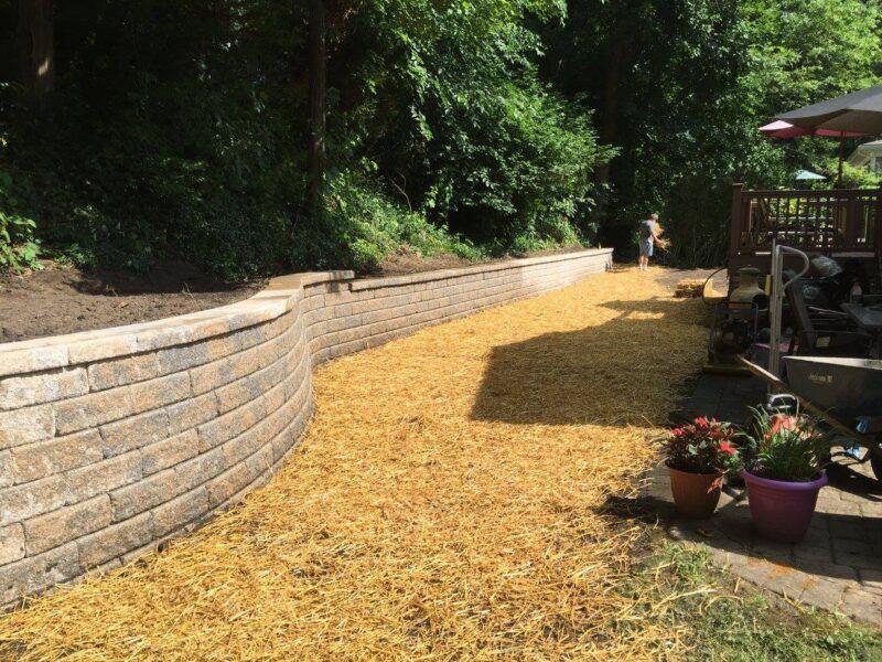 Retaining Wall Install, Basking Ridge NJ