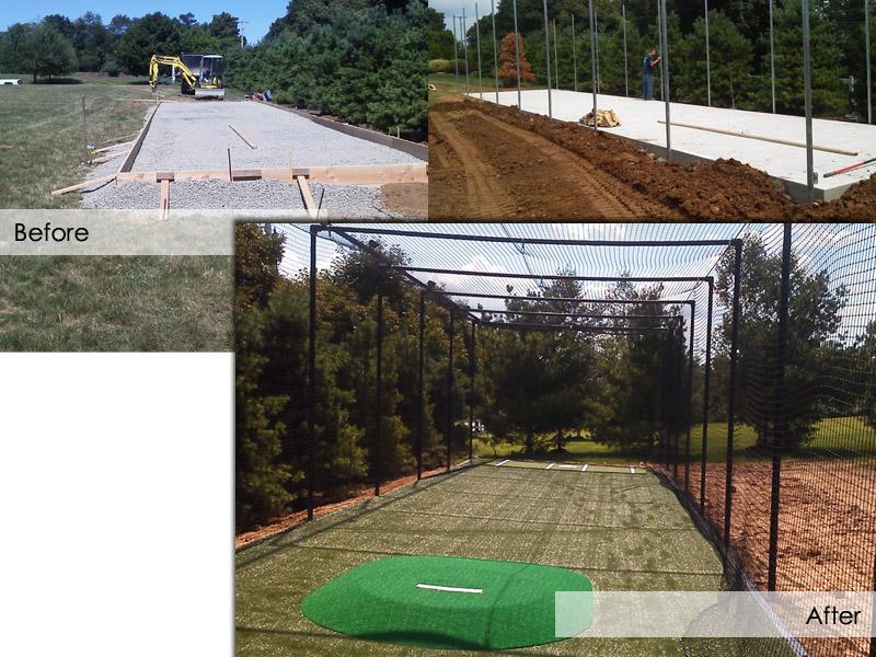 Baseball Batting Cage Construction, Flanders New Jersey