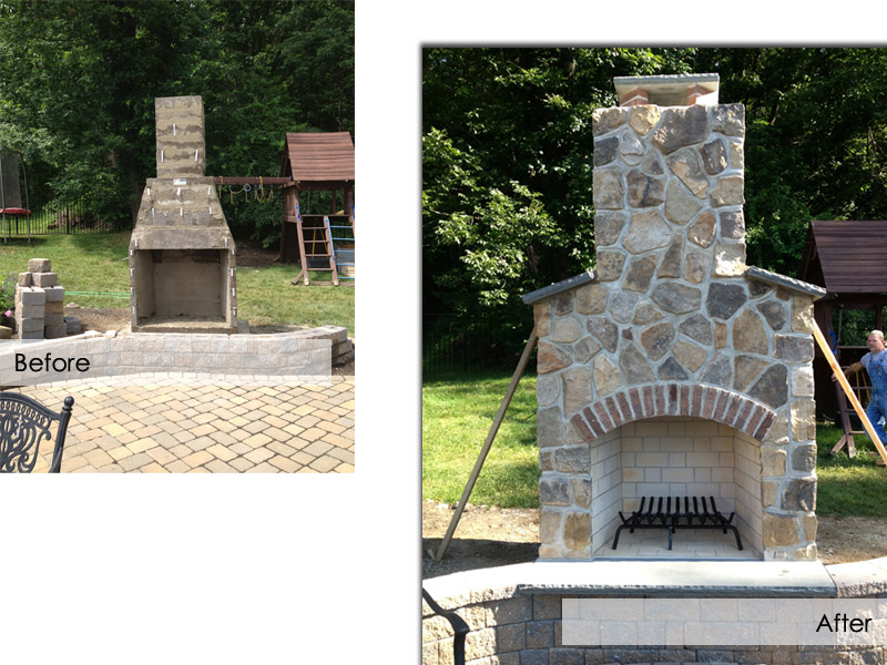 Outdoor Fireplace, Chester New Jersey