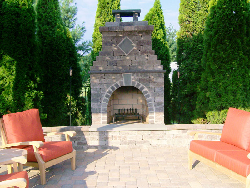 Custom Patio Fireplace, Chester NJ