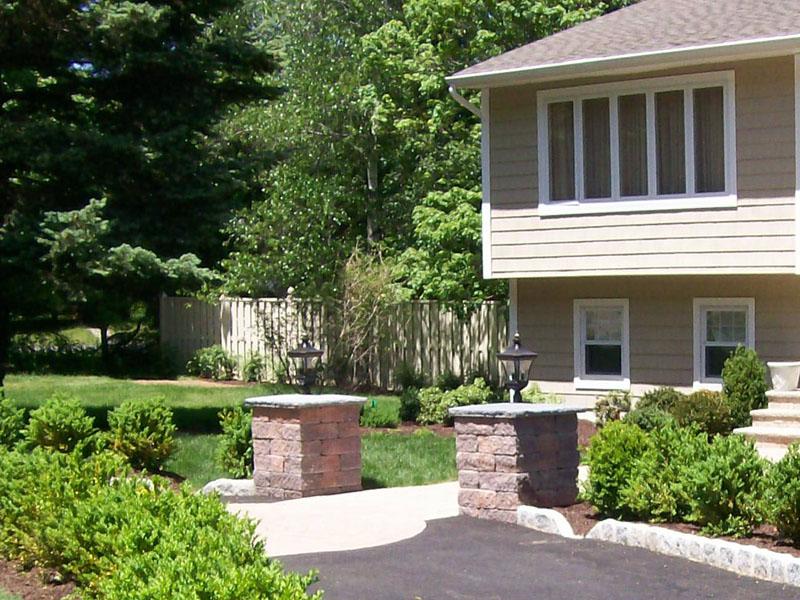 Landscape Light Pillars Installation, Mount Olive NJ