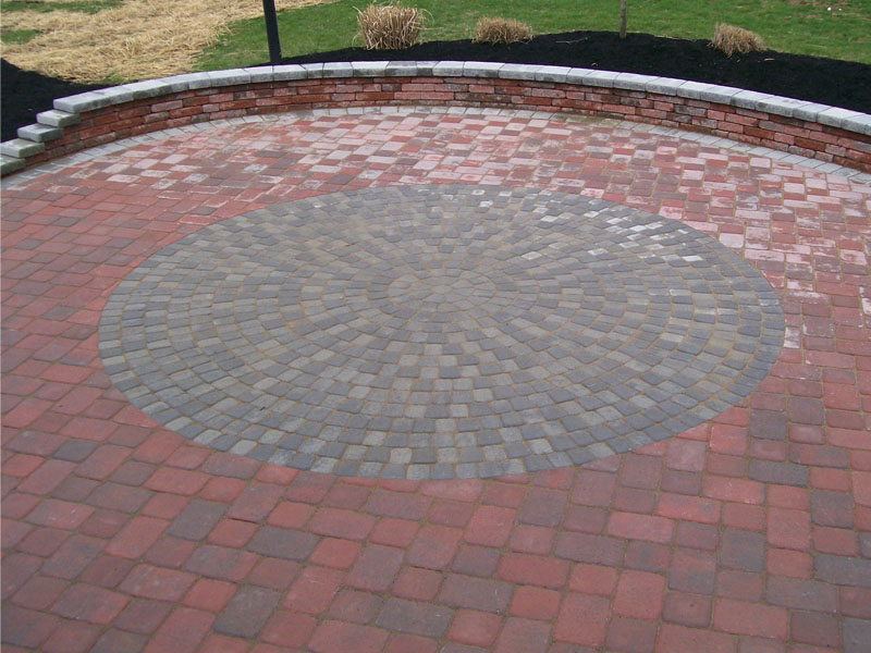 Circle Paver Patio Design, Flanders NJ