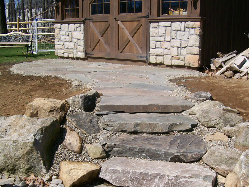 Hardscape Custom Natural Stone Stairs, Chester NJ