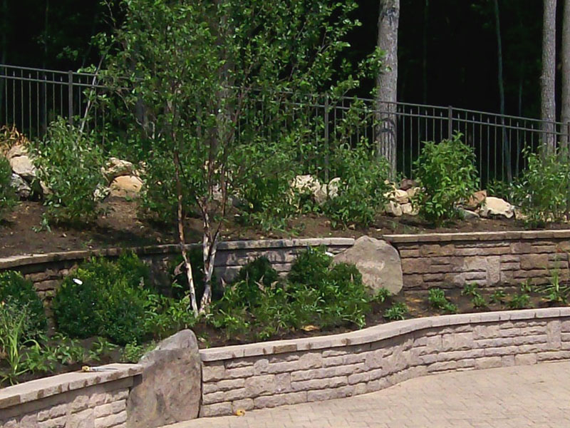 Multiple Retaining Wall Design, Flanders NJ