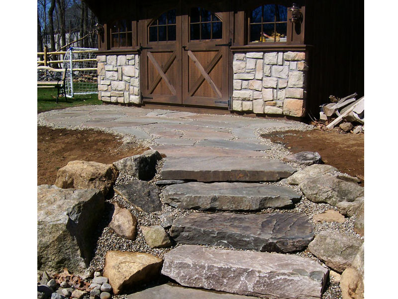 Natural Rock Stairs Design, Chester NJ