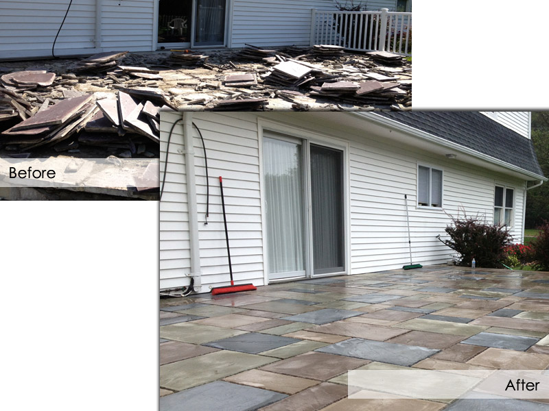 Patio Before and After, Flanders NJ