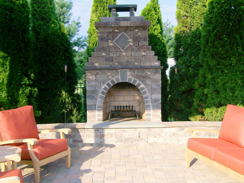 Custom Outdoor Fireplace, Chester NJ