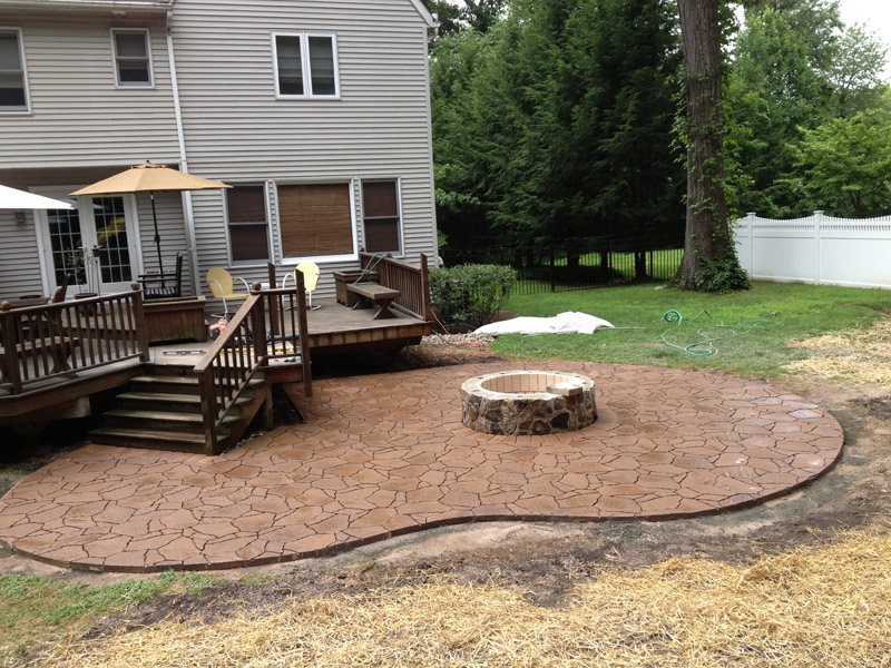 Paver Patio & Custom Fire Pit - Mount Olive New Jersey
