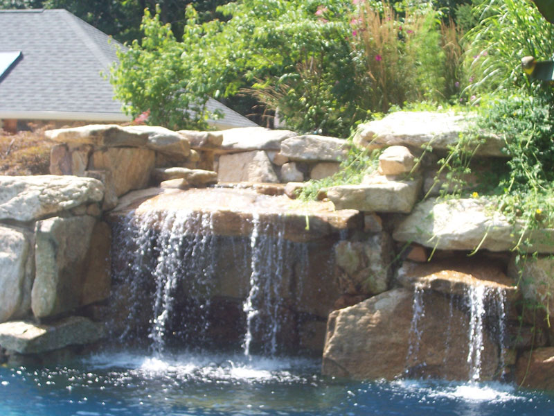 Custom Pool Waterfall Design, Flanders NJ