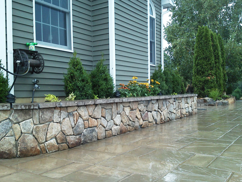 Stone Retaining Wall, Randolph NJ
