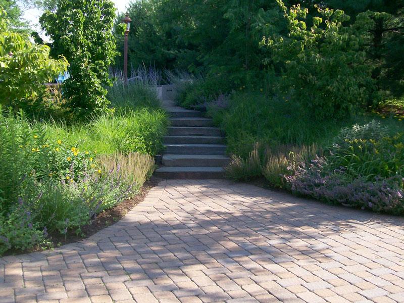 Custom outdoor walk and stairs, Flanders NJ