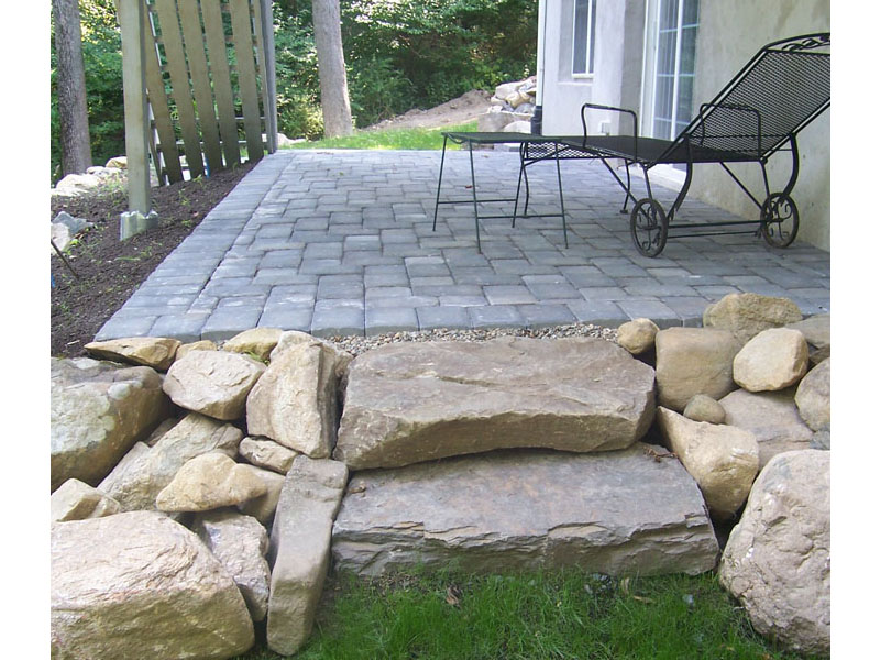 Custom Stone Staircase, Sparta New Jersey