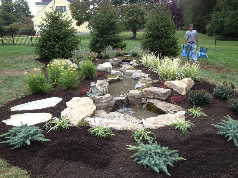 Custom Landscape Water Feature, Chester New Jersey