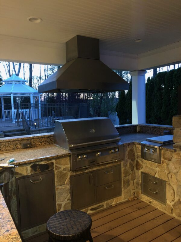 Custom Outdoor Kitchen Installation – Mendham NJ