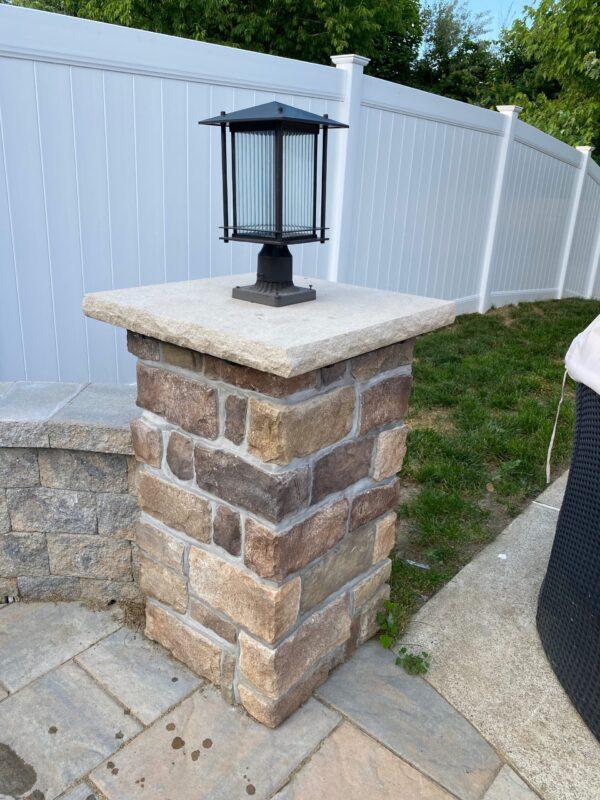 Landscape Light Pillar Installation – Mendham NJ