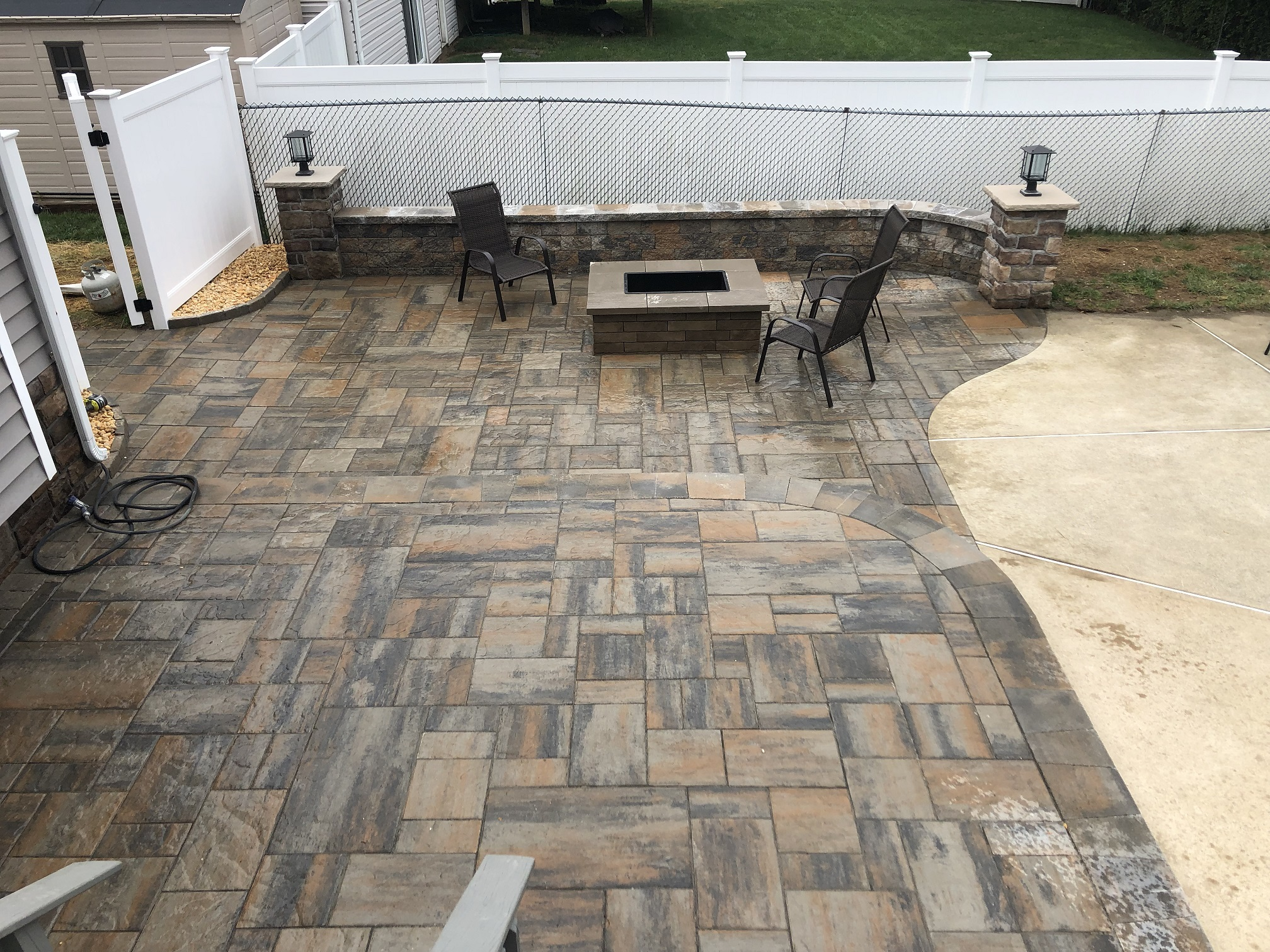 Custom paver patio and outdoor firepit – Chester NJ
