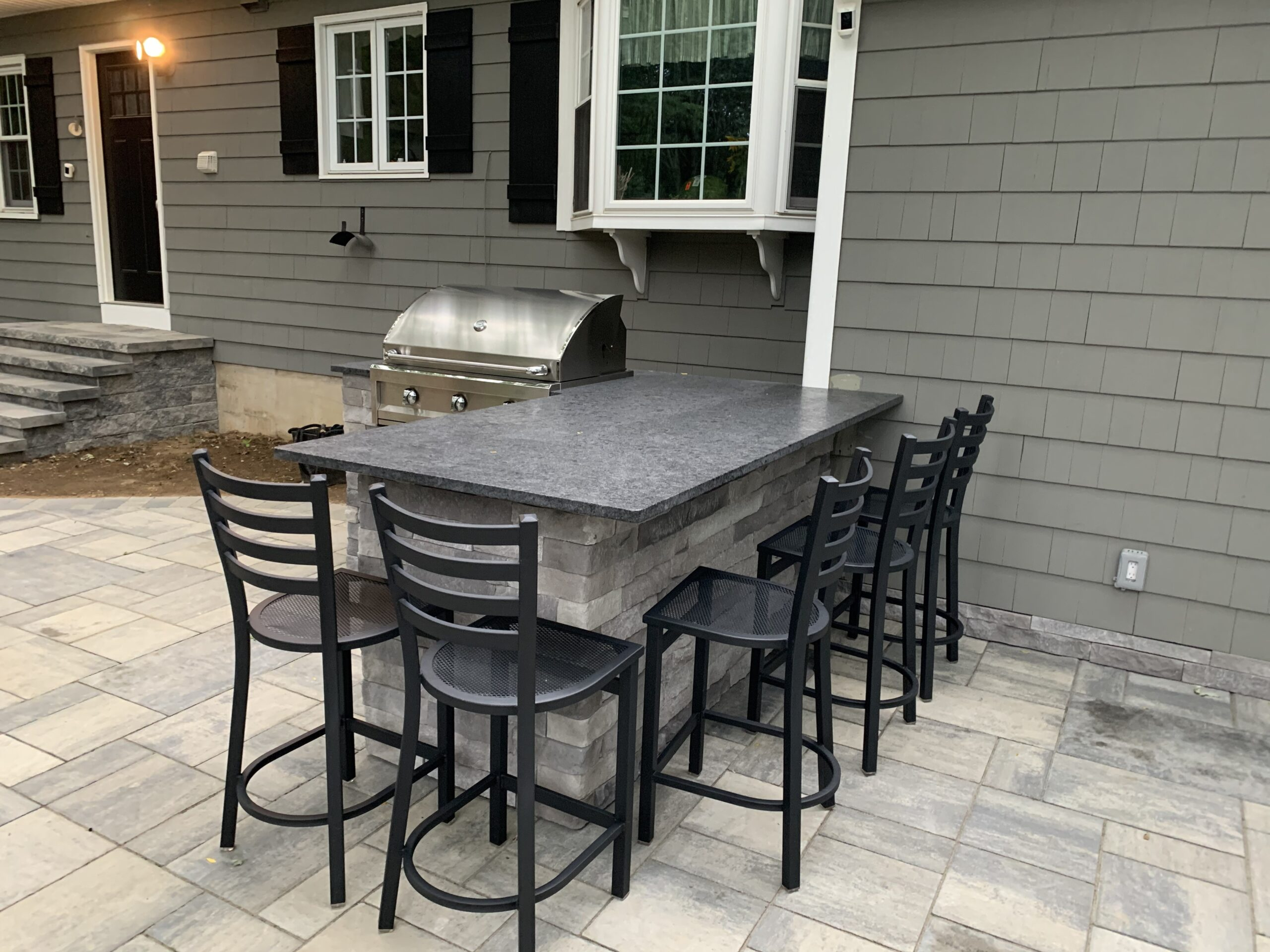 Outdoor Bar and Seating Installation- Flanders NJ