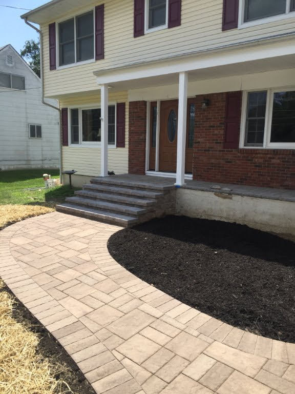 Walkway and stone staircase install – Flanders NJ