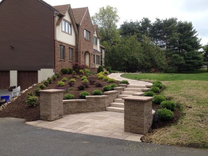 Paver Pillars, Stair and Walkway – Chester NJ