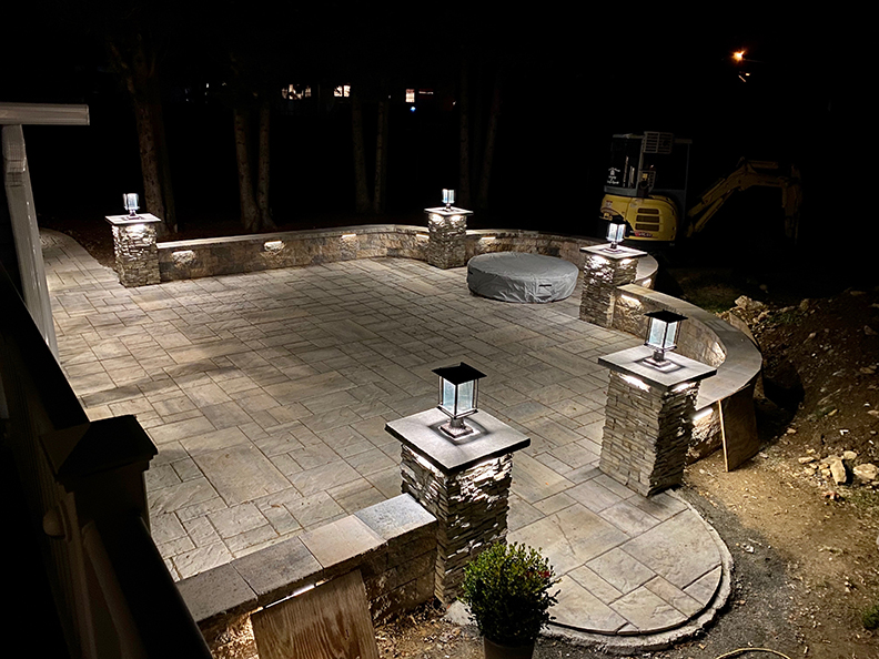 Firepit and Complete Paver Patio Install - Chester NJ