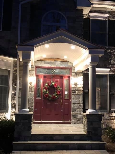 Front Entrance Stone Work - Far Hills NJ