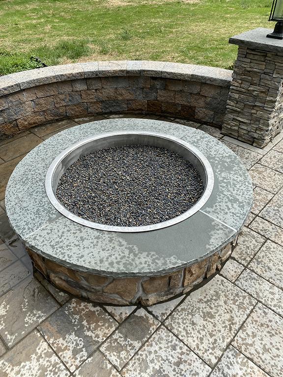 Stone Fire Pit Install – Flanders NJ