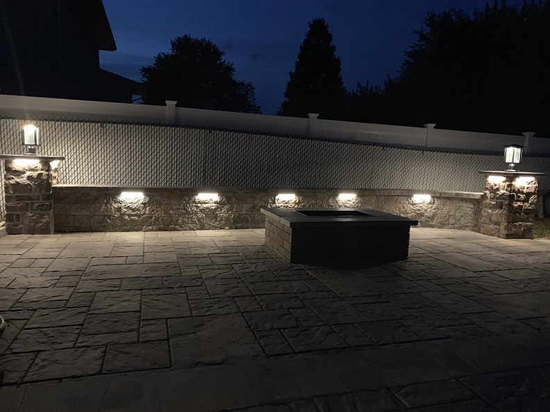 Outdoor Paver Patio Firepit Installation - Bedminster NJ
